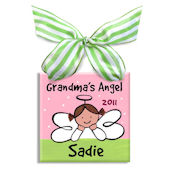 Grandmas Little Angel Girl  Personalized Ornament