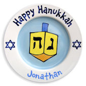 Happy Hanukkah Boys  Personalized Plate