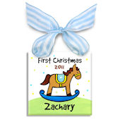 First Christmas Horse Boy  Personalized Ornament