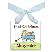 Wagon Boys  Personalized Ornament