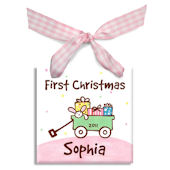 Wagon Girls  Personalized Ornament