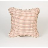 Madison Pink and Tan Check Pillow