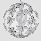 Chloe Matte White With Clear Crystal Chandelier