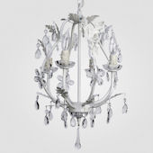 Phoebe Matte White With Crystal Chandelier