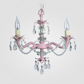 Tara Gloss Pink With Crystal Chandelier