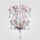 Tiffany Gloss Pink With Crystal Chandelier