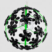 Chloe Neon Green With Black Crystal Chandelier
