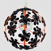 Chloe Neon Orange With Black Crystal Chandelier
