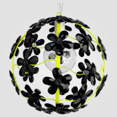 Chloe Neon Yellow With Black Crystal Chandelier