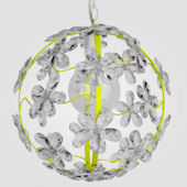 Chloe Neon Yellow With Clear Crystal Chandelier