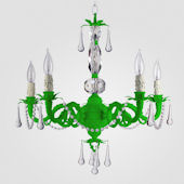 Faith Neon Green With Clear Crystal Chandelier