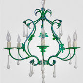 Sonja Distressed Blue And Green Chandelier