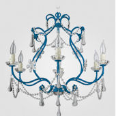 Sonja Neon Blue With Clear Crystal Chandelier