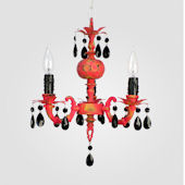 Tahlia Distressed Yellow And Red Chandelier