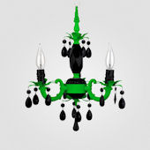 Tahlia Neon Green With Black Crystal Chandelier