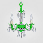 Tahlia Neon Green With Clear Crystal Chandelier
