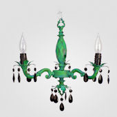 Tara Distressed Blue And Green Chandelier