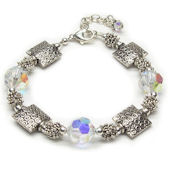 Bali Squares with Crystals 2  Bracelet