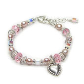 Childrens Princess Heart Bracelet