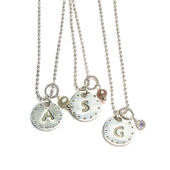 Dot Monogram Charms Necklace