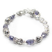 Iolite Envy Personalized Mothers Bracelet