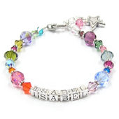 Multi Color Mom Personalized Bracelet
