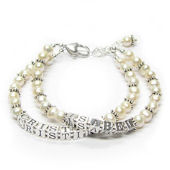 Pearls of Wisdom Personalized Mothers Bracelet