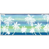 Retro Palm Blue Wall Minute Mural