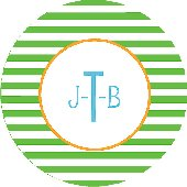 Monogram This Striped Personalized Dinnerware