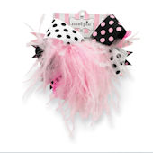 Mudpie Pink and Black Ostrich Party Headband