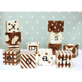 New Arrivals Chocolate Block Letters