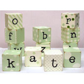 New Arrivals Green  Block Letters