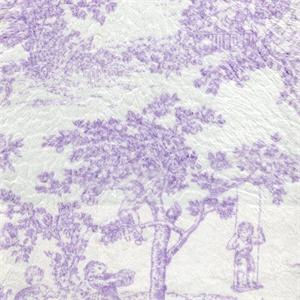 New Arrivals Inc Fluffy Lavender Toile Fabric