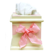 New Arrivals Pink Polka Dot Tissue Box