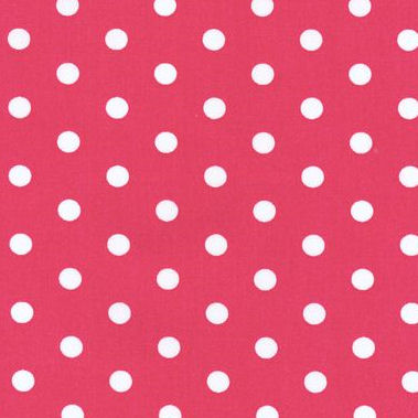 New Arrivals Raspberry Polka Dot Fabric
