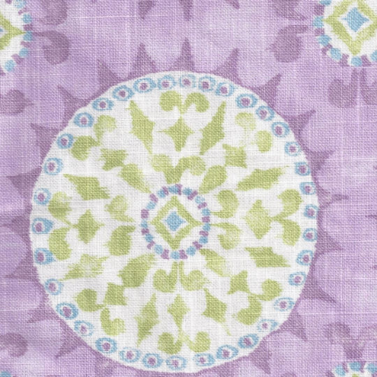 New Arrivals Linen Suzani in Lavender Fabric