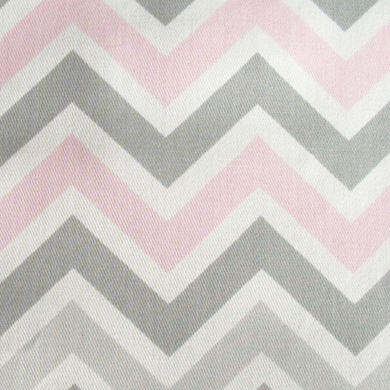 New arrivals zig zag in pink and gray fabric the frog for Grey baby fabric