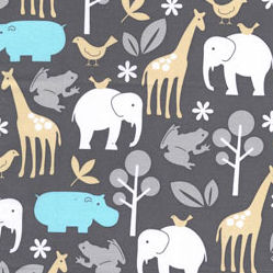 New Arrivals Zoo Animals in Aqua Fabric