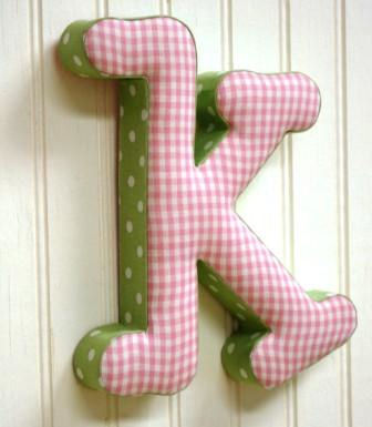 K Letter Images In Pink Pink and Green k Fabric Wall Letter - The Frog and the Princess