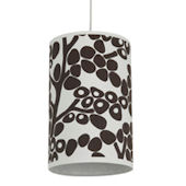 Oilo Brown Modern Berries Cylinder Light