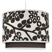 Oilo Brown Modern Berries Double Cylinder Light