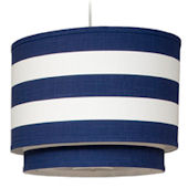 Cobalt Blue Stripe Double  Cylinder Light