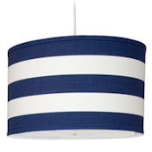 Oilo Cobalt Blue Stripe Large Cylinder Light