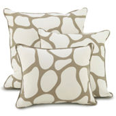 Oilo Taupe Cobblestone Pillows