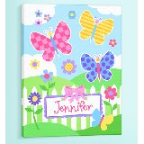 Butterfly Garden Personalized Canvas