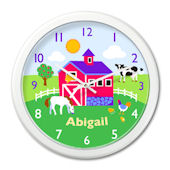 Olive Kids Country Farm Personalized Clock