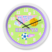 Olive Kids Game On Girl Personalized Clock