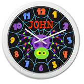 Olive Kids Halloween Spider Personalized Clock