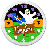 Olive Kids Halloween Ghost Personalized Clock