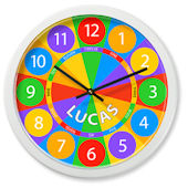 Olive Kids Numbers Personalized Clock